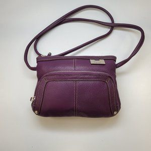 Tignanello Purple Leather Mini Bag NEW!